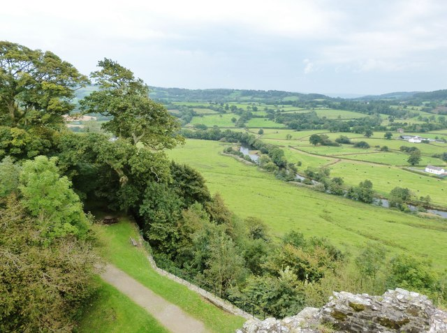 The River Towy from the South-east tower of Dinefwr Castle