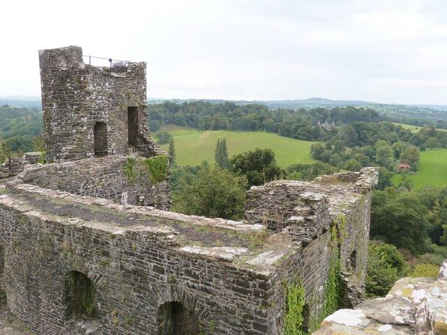 Ruins of Dinefwr Castle, near Llandeilo