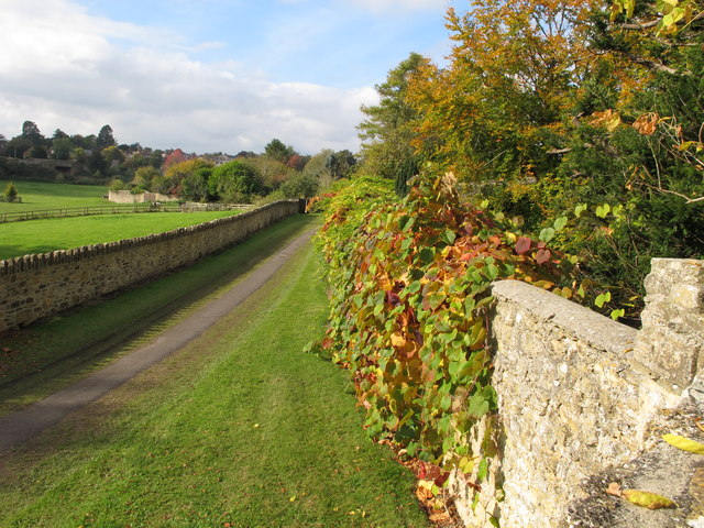 View of road from Raleigh's Seat, Sherborne Castle
