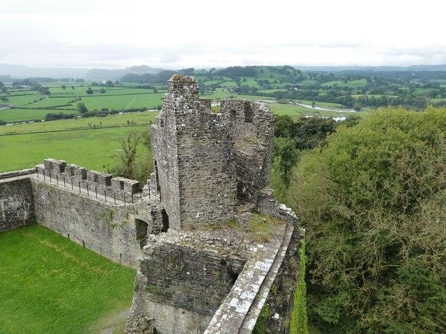 Ruins of Dinefwr Castle, near Llandeilo