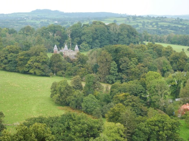 Newton House, seen from Dinefwr Castle