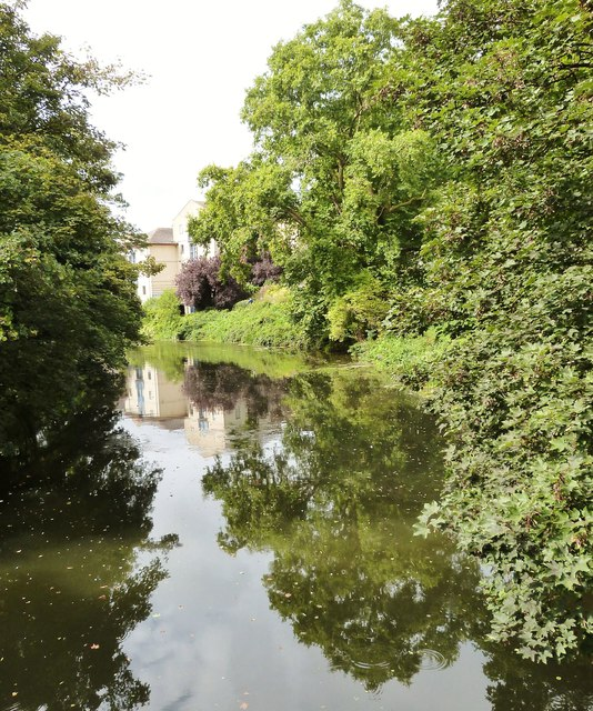 Reflections in the River Avon, Chippenham, Wiltshire