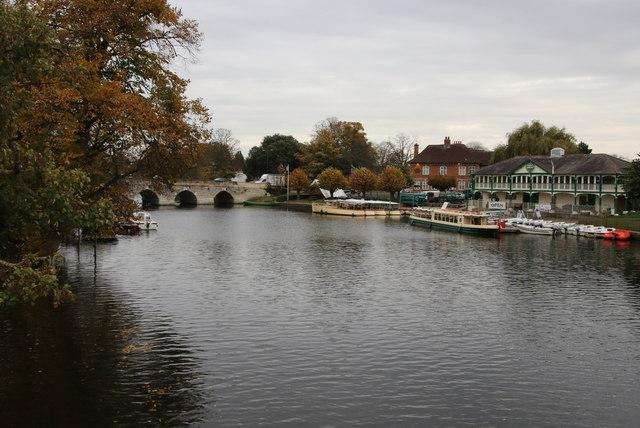Clopton bridge viewed from the tram line bridge