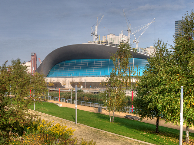 Queen elizabeth olympic park the london david dixon - Queen elizabeth olympic park swimming pool ...