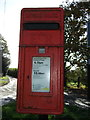 SJ7285 : Close up, Elizabeth II postbox on Reddy Lane, Booth Bank by JThomas