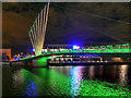 SJ8097 : MediaCity Footbridge in Green : Week 45