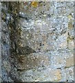 SK8329 : Bench mark, The Old Forge, Croxton Kerrial by Alan Murray-Rust