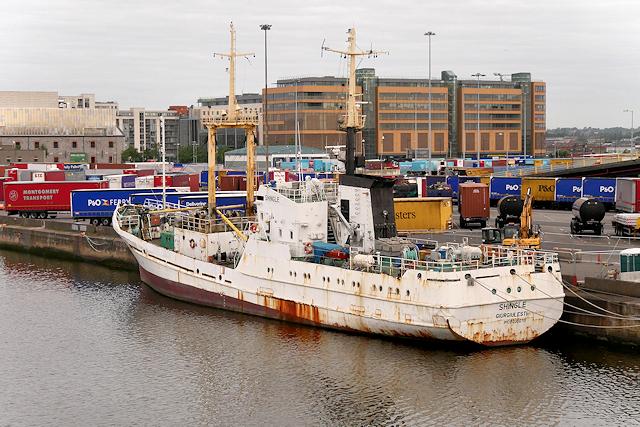 Contraband Vessel in Dublin Harbour