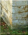 SK8320 : Bench mark, St Mary's Church, Garthorpe by Alan Murray-Rust