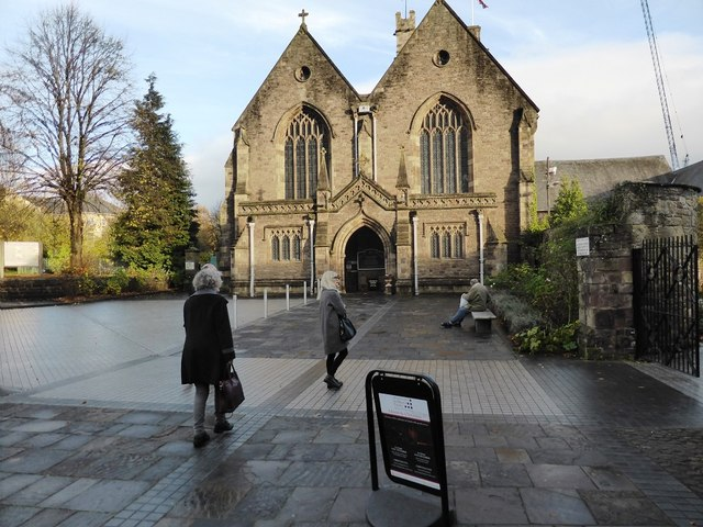 The front of St Mary's Priory Church, Abergavenny