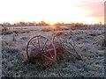 ST4286 : Hay rake at Magor Marsh : Week 47