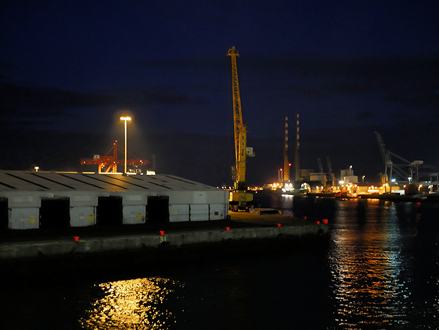 Port of Dublin Quayside (night view)
