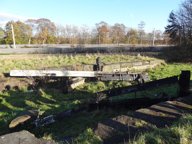 Remains of Lock Gates on the Sankey Canal