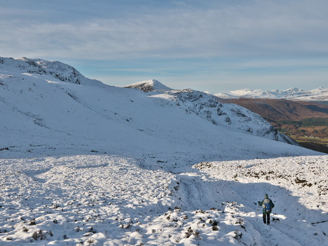 Descending towards Strathconon on an estate track