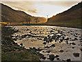 NH2953 : The River Meig at sunset by Julian Paren