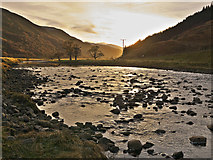 NH2953 : The River Meig at sunset by Julian Paren