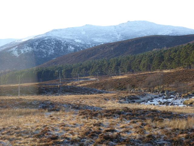 View up Glenmuick towards the Lochnagar ridge
