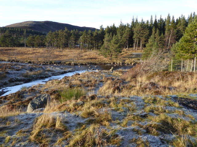 Confluence of Allt an t'Sneachda with River Muick