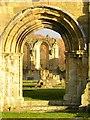 SE5478 : Through the south portal of Byland Abbey by Gordon Hatton
