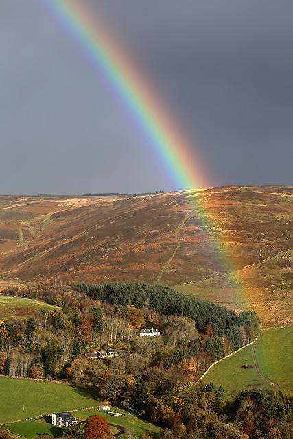 A rainbow at Yarrowford