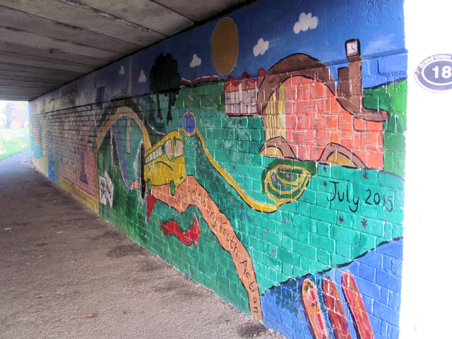 Canalside Mural under Bridge 18 of the Aylesbury Canal (2)