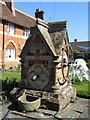 SU3987 : Well & Pump Cover, Eagles' Close Almshouses, Wantage by Alex Passmore