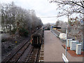 NN2281 : The Caledonian Sleeper leaving Spean Bridge station by John Lucas