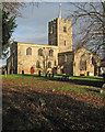 TL4245 : Fowlmere: St Mary's Church in winter by John Sutton