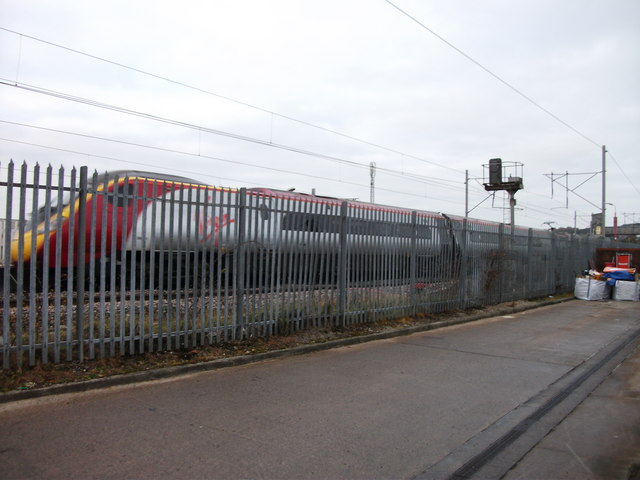 Virgin Trains Pendolino passing through Penrith