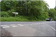 TQ5345 : Cinder Hill Lane, Penshurst Rd junction by N Chadwick