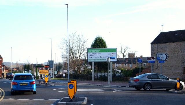Annesley Rd/Baker St roundabout, Hucknall, Notts.