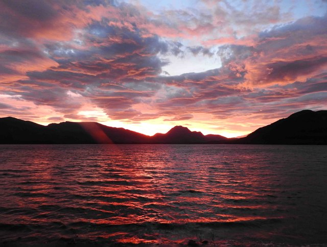 Sunrise over Loch Maree