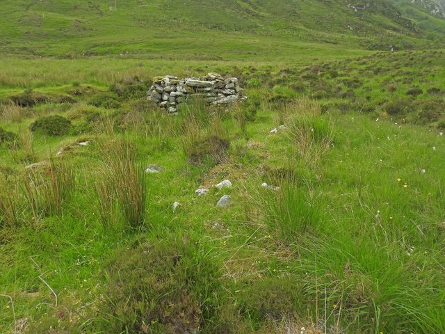 Ruin of a building in Srath Coille na Fearna