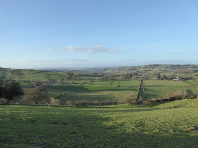 View down from Cefn-y-bryn