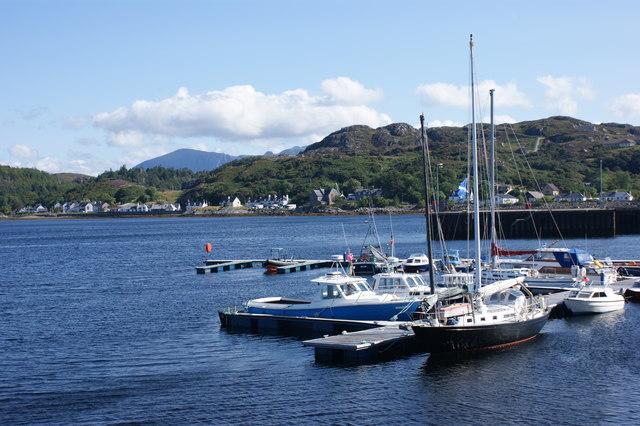 Yacht pontoon, Lochinver Harbour