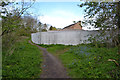 SP3576 : North on the Sowe Valley path past the Chace Centre site, Willenhall, southeast Coventry by Robin Stott