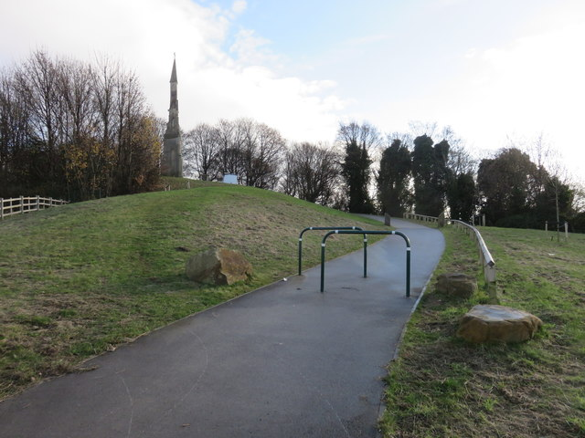 Path up to the Cholera Monument, Sheffield