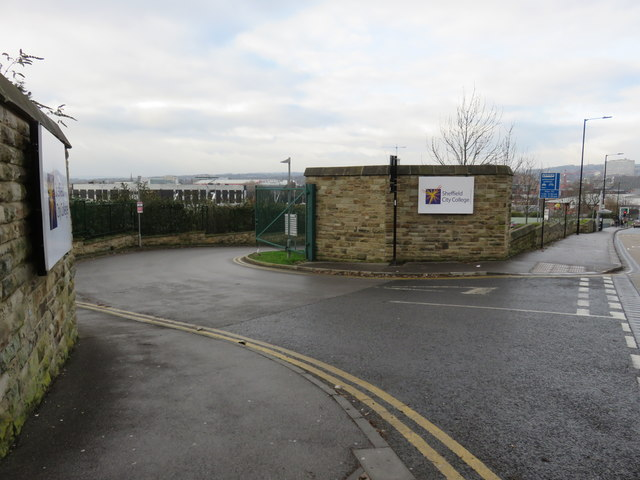 Road entrance to Sheffield College