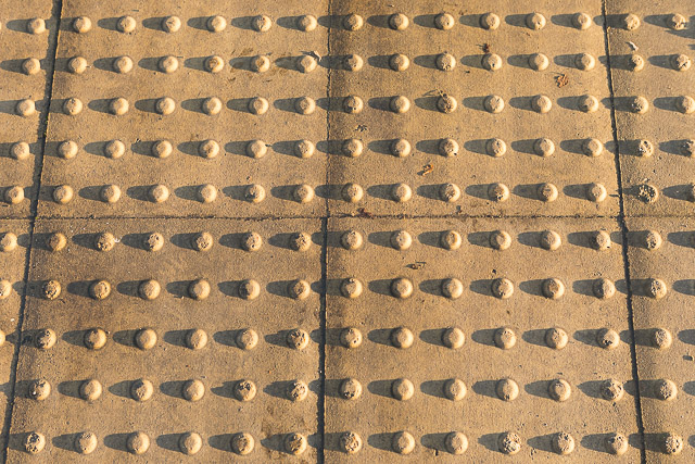 Tactile Paving in low sunlight, Sopwith Road