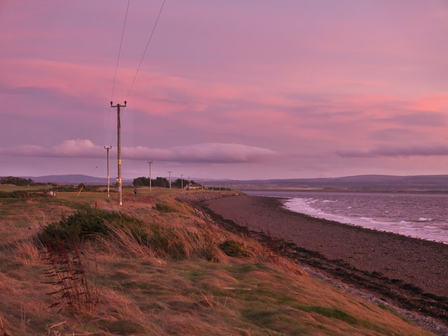 Chanonry Ness and Fortrose Bay at dusk