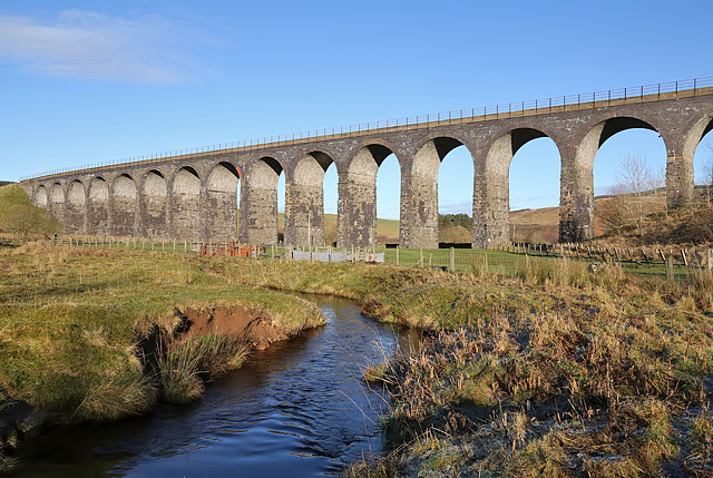 The Langside Burn and Shankend Viaduct