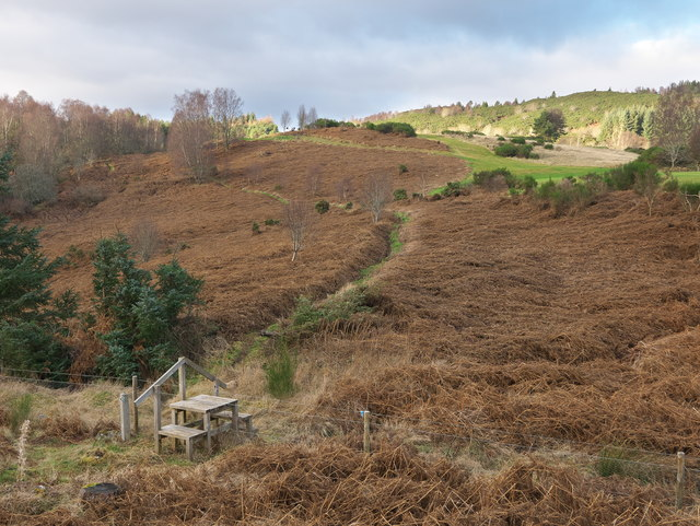 Core footpath towards the Kinellan Viewpoint