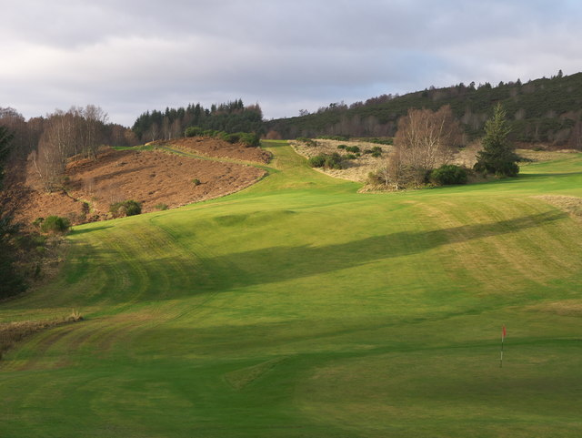 The west end of Strathpeffer Golf Course