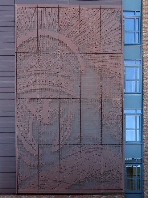 Centurion mural, Roman House from Forth Street