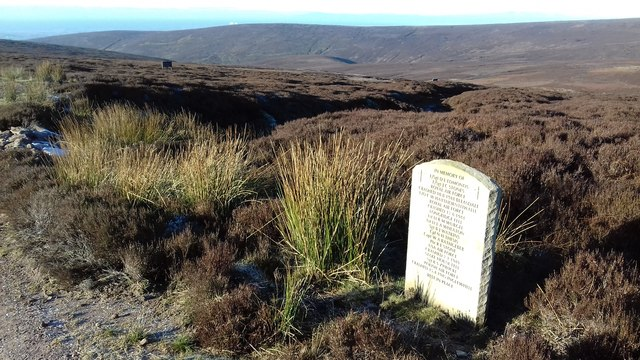 Memorial to Airmen lost on The Bowland Fells