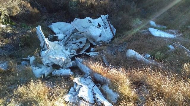 Wreckage of Bristol Blenheim Aircraft