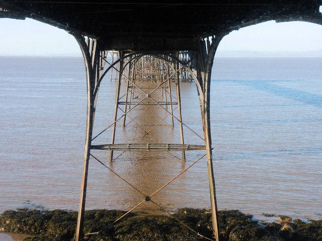 Under Clevedon Pier