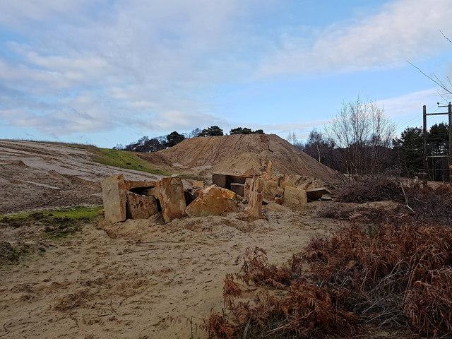 Disused sand quarry