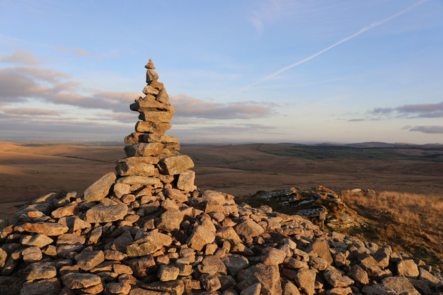 Cairn on summit of Brown Willy