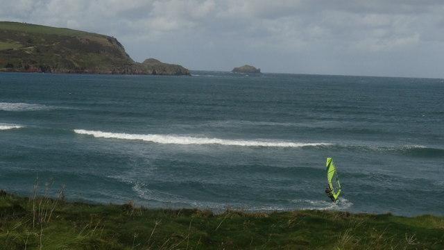 Windsurfer off Gun Point near Padstow